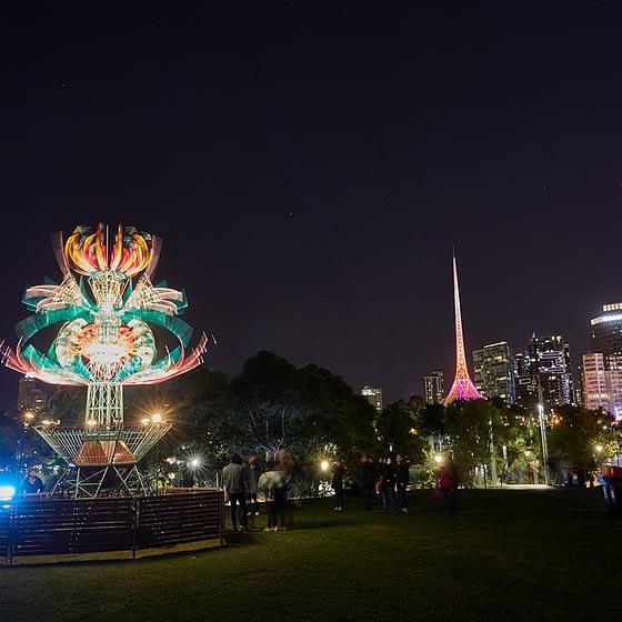 Spherophyte - White Night Melbourne