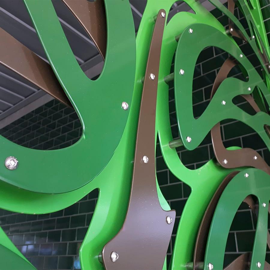 Merri Creek Primary School Gate detail
