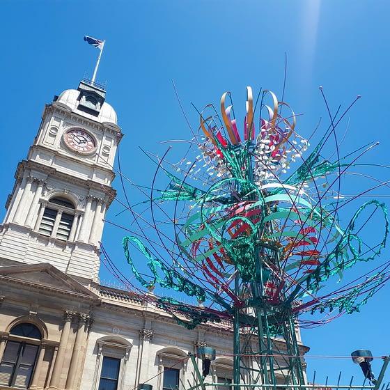 Spherophyte kinetic sculpture